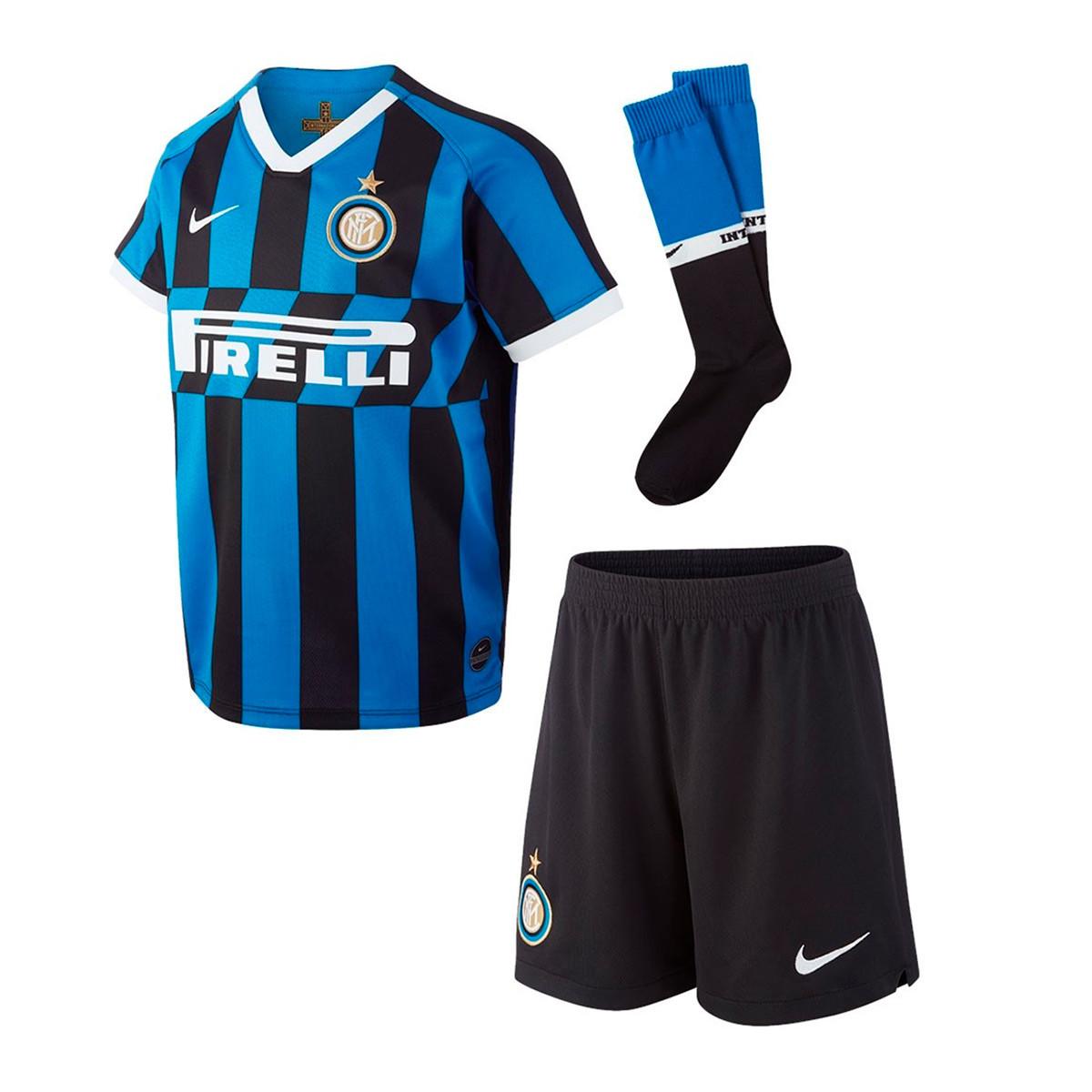 5665402d508 Nike Inter Milán Breathe Primera Equipación 2019-2020 Niño Kit. Blue spark- White ...