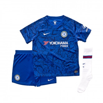 Tenue  Nike Chelsea FC Breathe domicile 2019-2020 enfant Rush blue-White