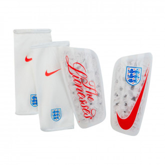 Shinpads Nike England Mercurial Lite 2018-2019 White-Phantom-Challenge red