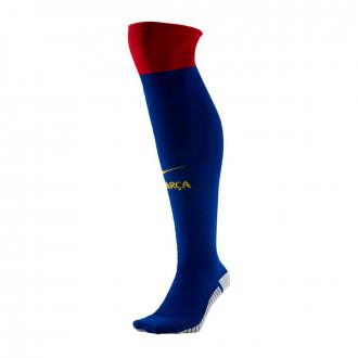 Football Socks Nike FC Barcelona Match OTC Primera Equipación 2019-2020 Deep royal blue-Noble red-Varsity maize