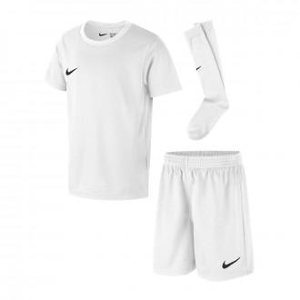 Conjunto  Nike Dry Park Niño White-Black