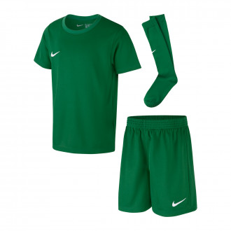 Kit  Nike Dry Park Niño Pine green-White