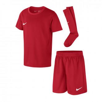 Kit  Nike Dry Park Niño University red-White