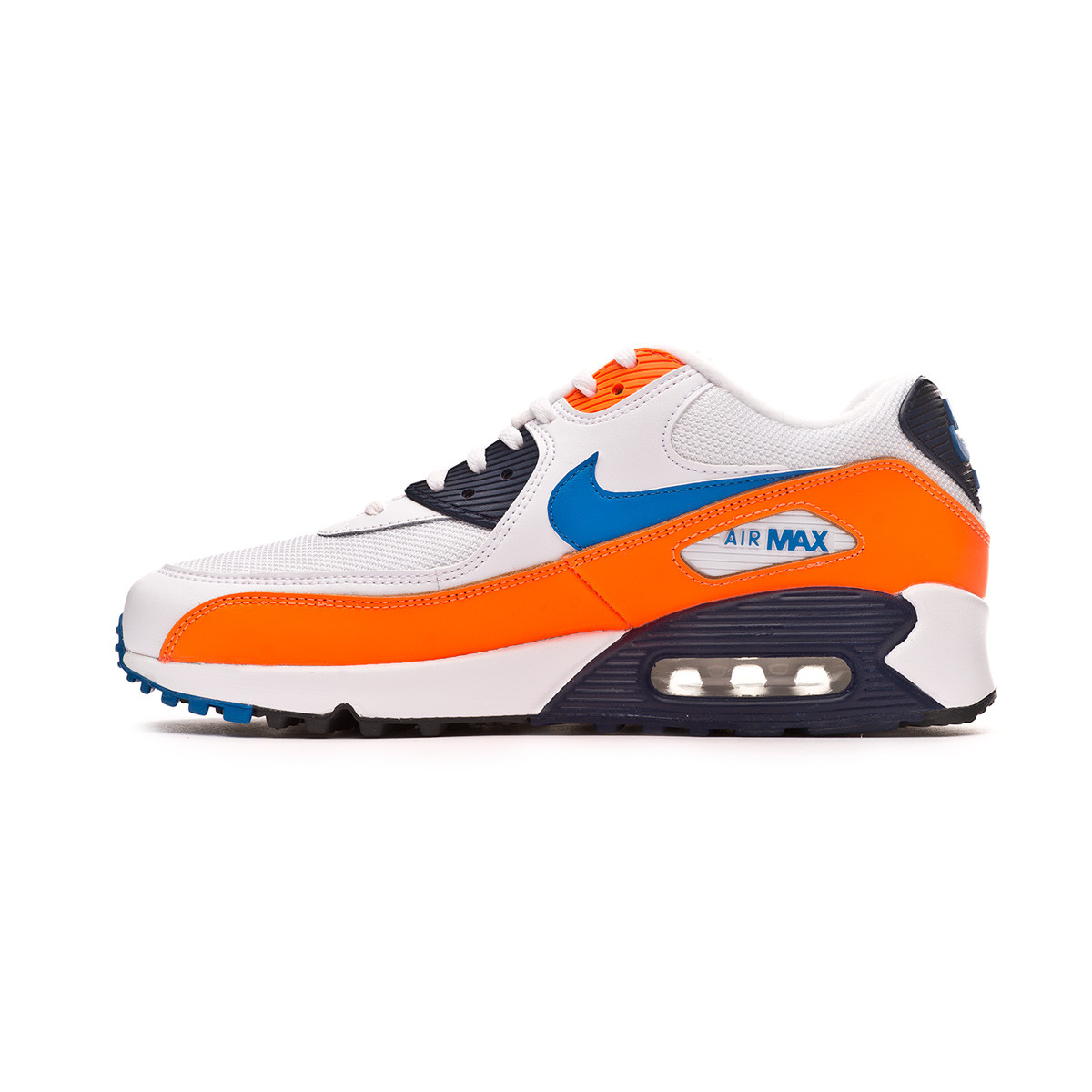 3450ce91089 Trainers Nike Air Max  90 Essential White-Photo blue-Total orange -  Football store Fútbol Emotion