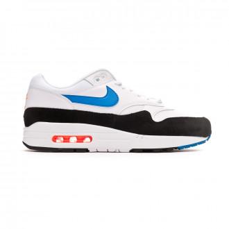 Trainers  Nike Air Max 1 White-Photo blue-Total orange-Black