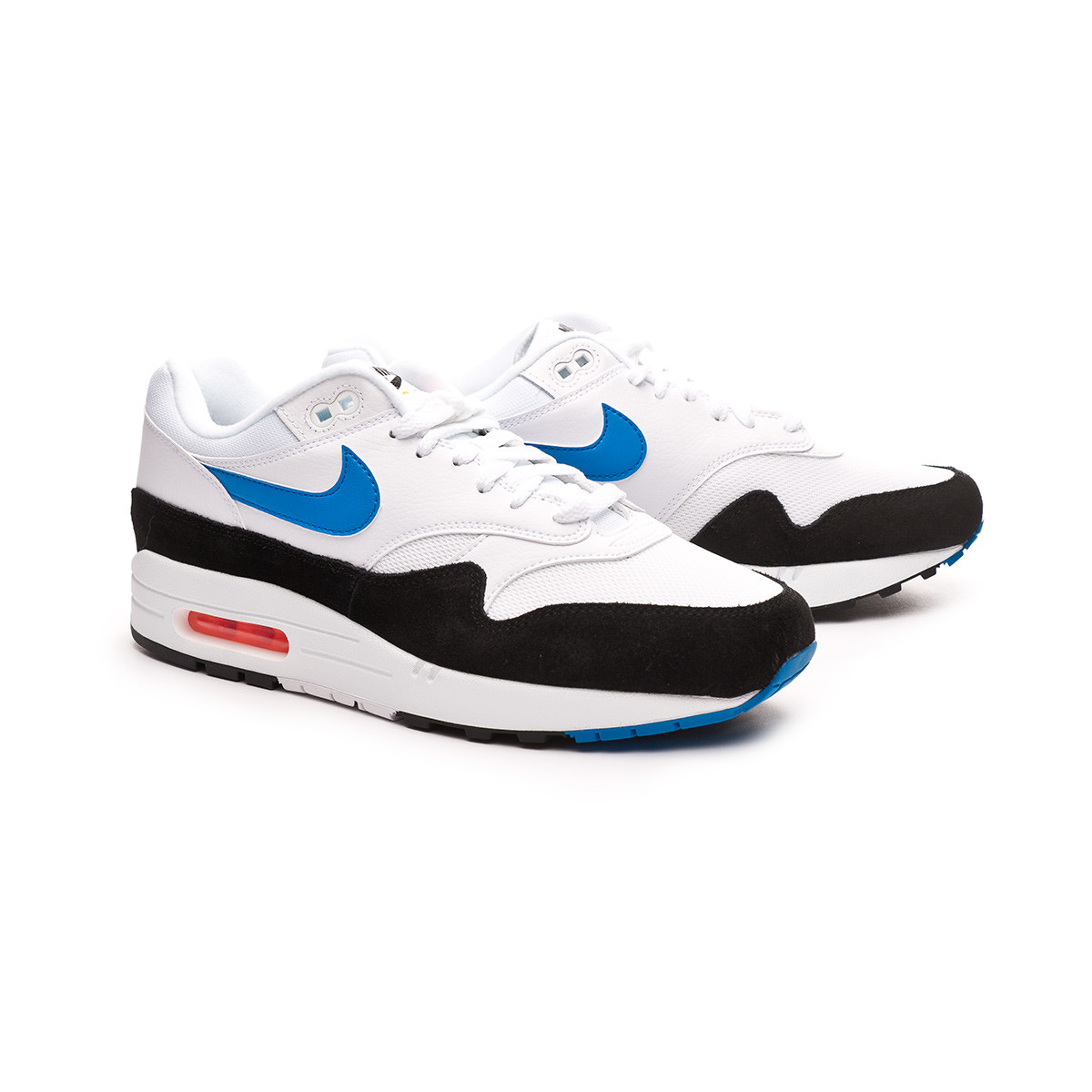 design intemporel 90a27 7bc9d Zapatilla Air Max 1 White-Photo blue-Total orange-Black