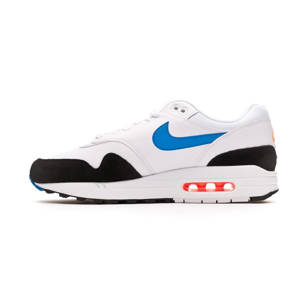 nike air max 1 white blue orange