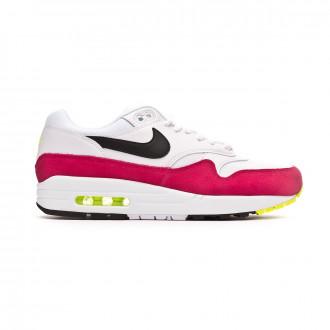 Trainers Nike Air Max 1 White-Black-Volt-Rush pink