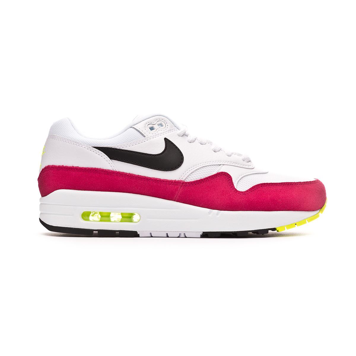 online retailer cd2d6 848cb Trainers Nike Air Max 1 White-Black-Volt-Rush pink - Tienda de fútbol  Fútbol Emotion