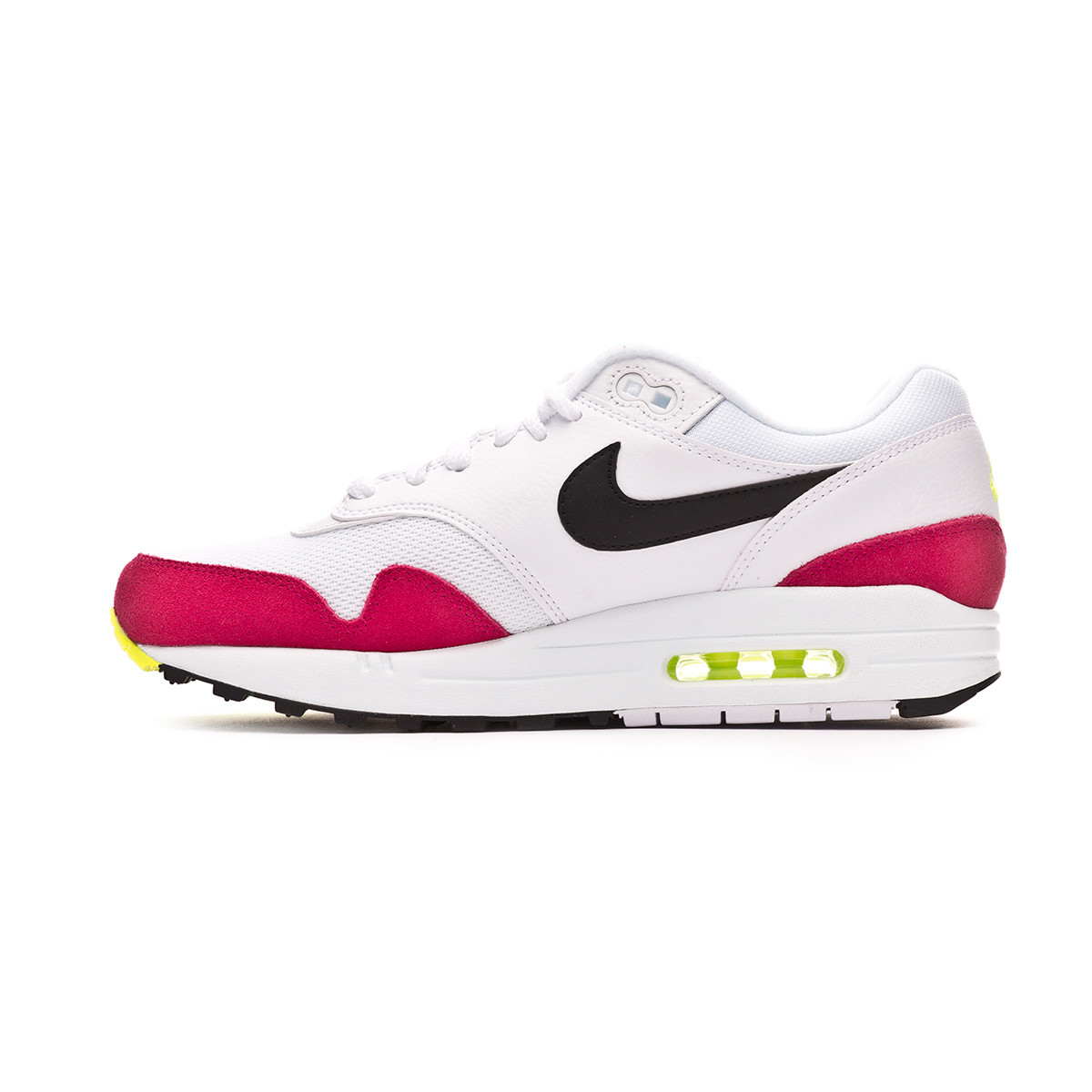 reputable site 6de90 5f8c1 Trainers Nike Air Max 1 White-Black-Volt-Rush pink - Football store Fútbol  Emotion