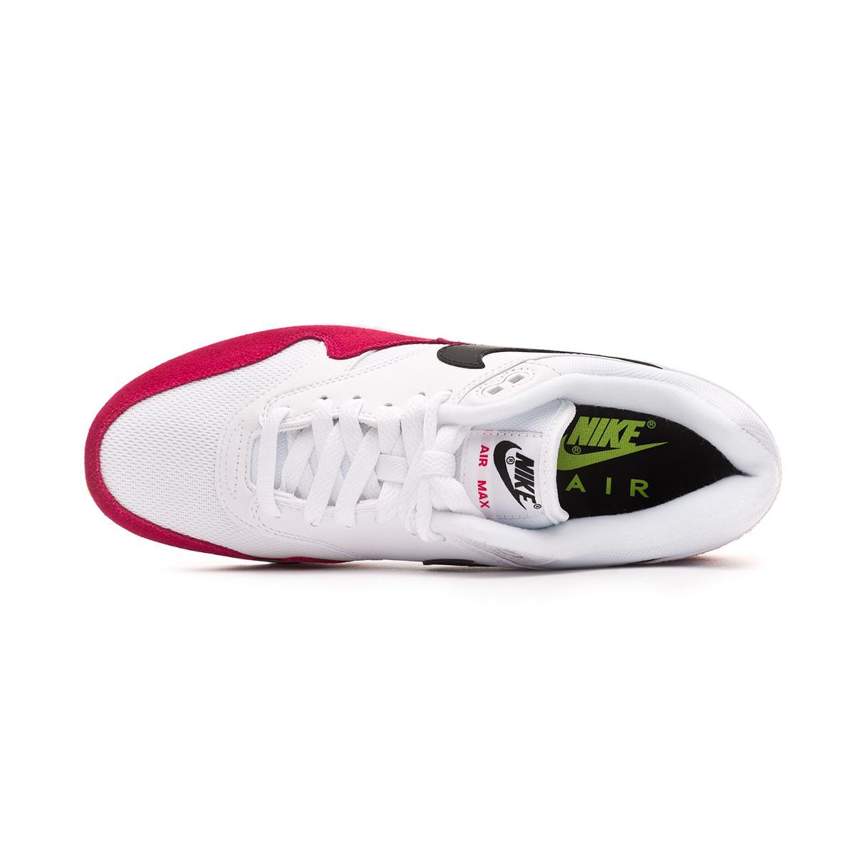 pas cher pour réduction 90a63 fef8e Zapatilla Air Max 1 White-Black-Volt-Rush pink