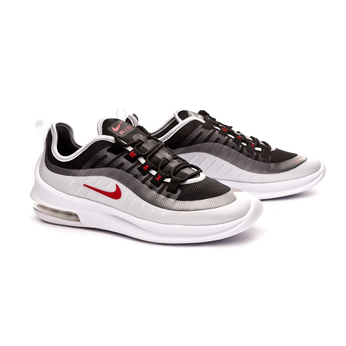 Nike Air Max Axis BlackSport RedMetallic PlatinumWhite Shoes