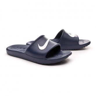Chancleta  Nike Kawa Shower Midnight navy-White