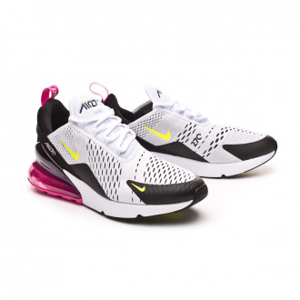 Sapatilha  Nike Air Max 270 White-Volt-Black-Laser fuchsia