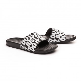 "Chinelo  Nike Benassi ""Just Do It."" Print Black-White"