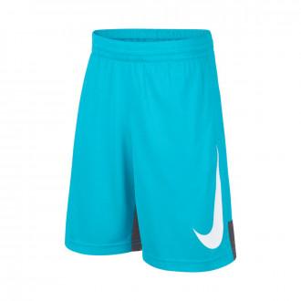 Short  Nike Dry Basketball enfant Blue gaze-Dark grey-White