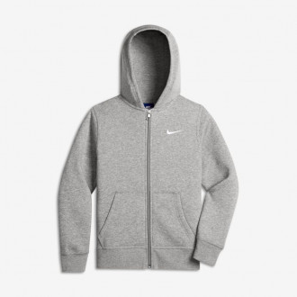 Felpa Nike Sportswear Hoodie Niño Dark grey heather-White