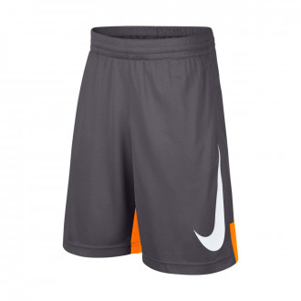 Pantalón corto  Nike Dry Basketball Niño Dark grey-Orange peel-White