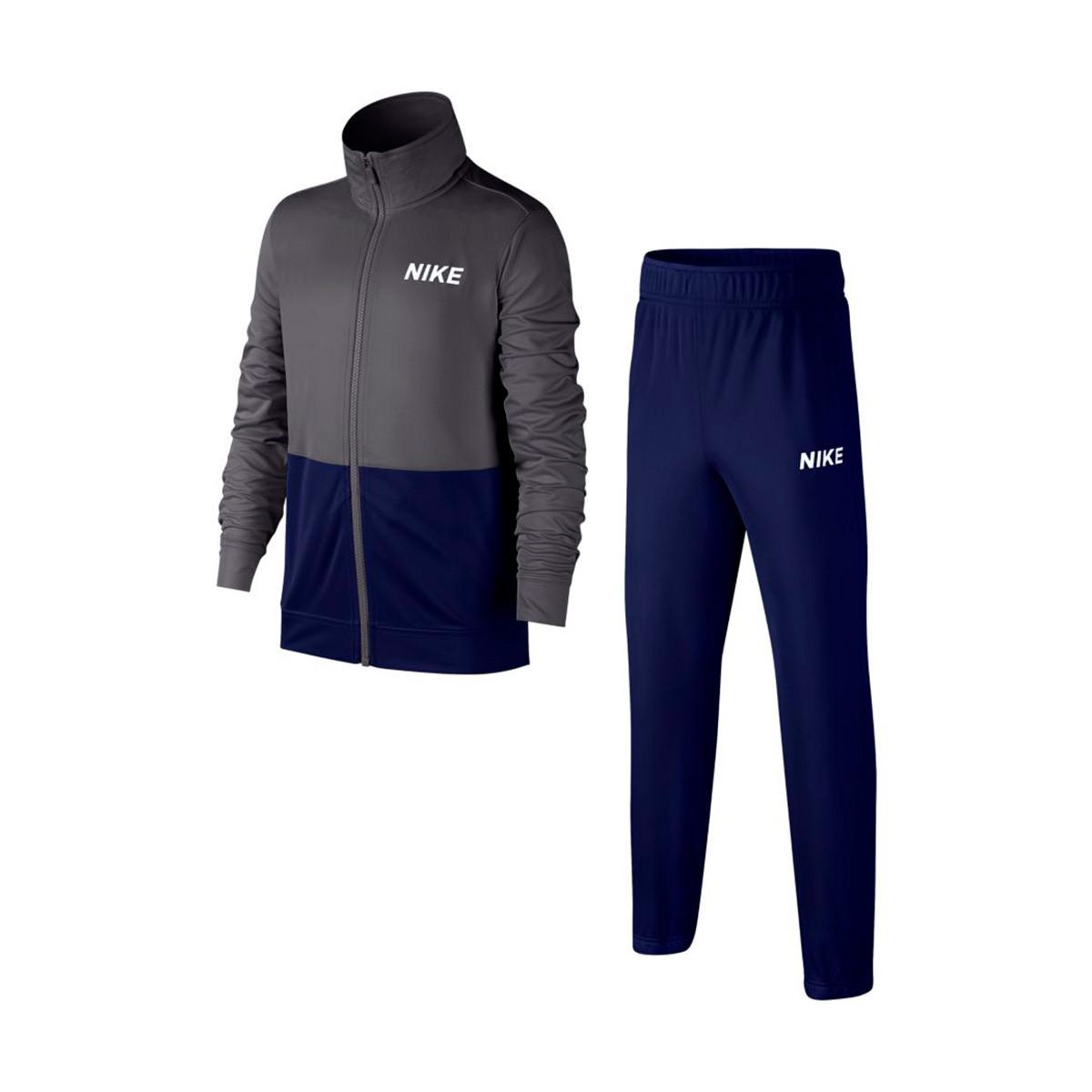 4c46410985 Tracksuit Nike Sportswear Niño Dark grey-Blue void-White - Football ...