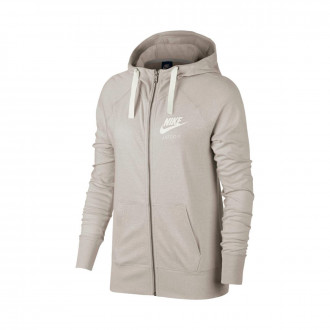 Sweatshirt  Nike Sportswear Hoodie Mulher Oatmeal-Sail