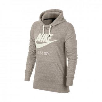 Sweatshirt  Nike Sportswear Gym Vintage Hoodie Mujer Oatmeal-Sail