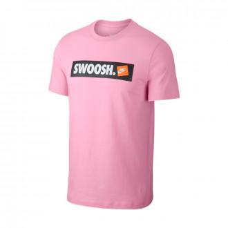 Camiseta  Nike Sportswear Swoosh Pink rise-White