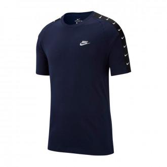 Camiseta  Nike NSW Basketball Swoosh 2 Obsidian-White