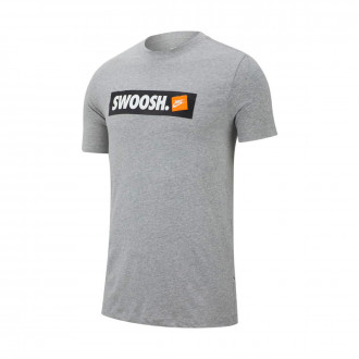 Camisola  Nike Sportswear Swoosh Dark grey heather-White