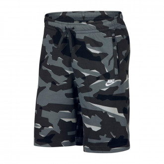 Pantalón corto  Nike NSW Club Camo FT Cool grey-Antracite-White