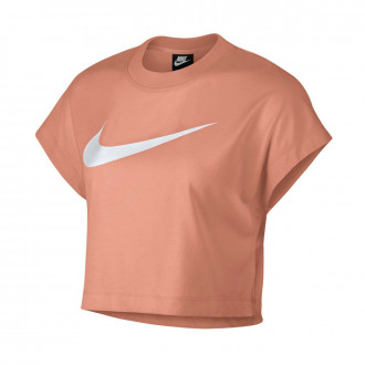 Playera  Nike Sportswear NSW Mujer Rose gold-White