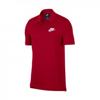Polo shirt  Nike Sportswear Team red-White
