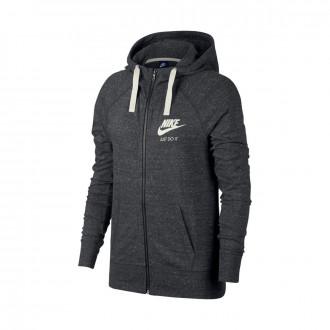 Sweatshirt  Nike Sportswear Hoodie Mulher Anthracite-Sail