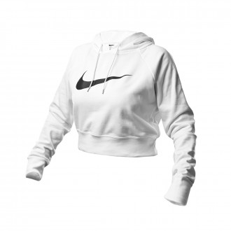 Felpa Nike NSW Swoosh Hodiee Crop FT Mujer White-Black
