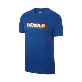 Maillot  Nike Sportswear Swoosh Indigo force-White