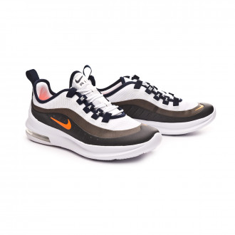 Zapatilla  Nike Air Max Axis Niño White-Total orange-Obsidian