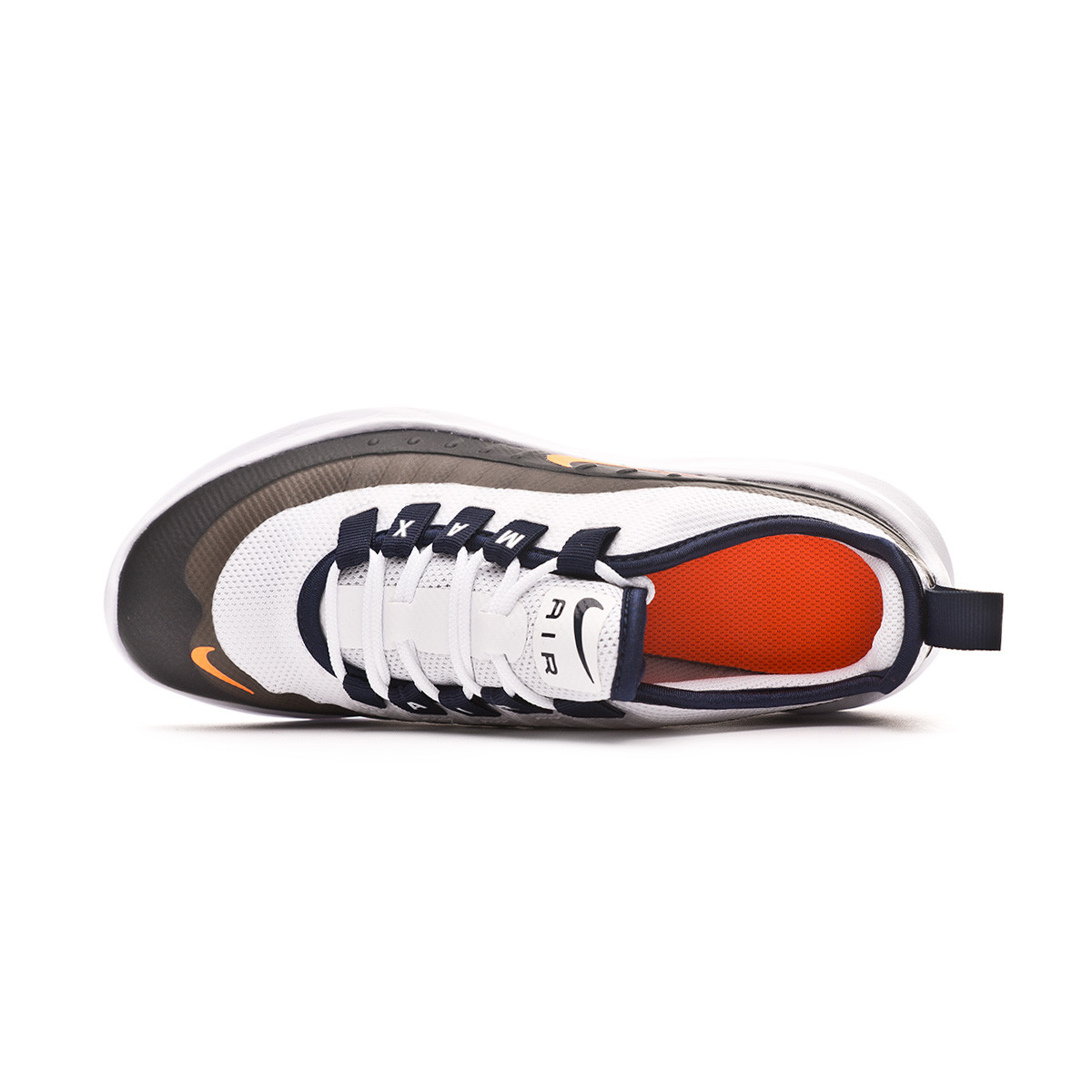 Relativamente petróleo por otra parte,  Trainers Nike Kids Air Max Axis White-Total orange-Obsidian - Football  store Fútbol Emotion
