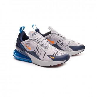 Trainers  Nike Air Max 270 Niño Wolf grey-Total orange-Midnight navy