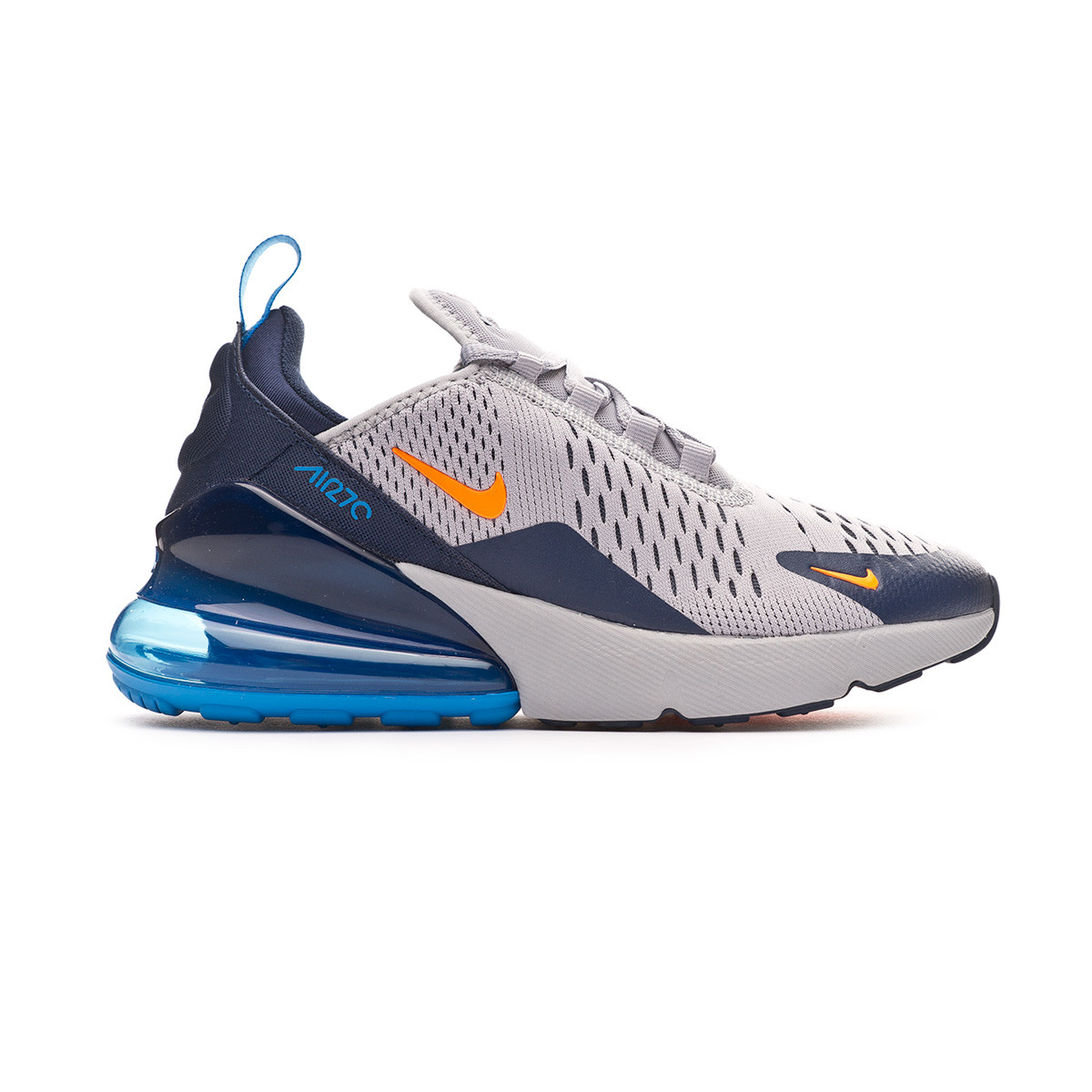 super popular e35fa 4979e Trainers Nike Air Max 270 Niño Wolf grey-Total orange-Midnight navy -  Football store Fútbol Emotion
