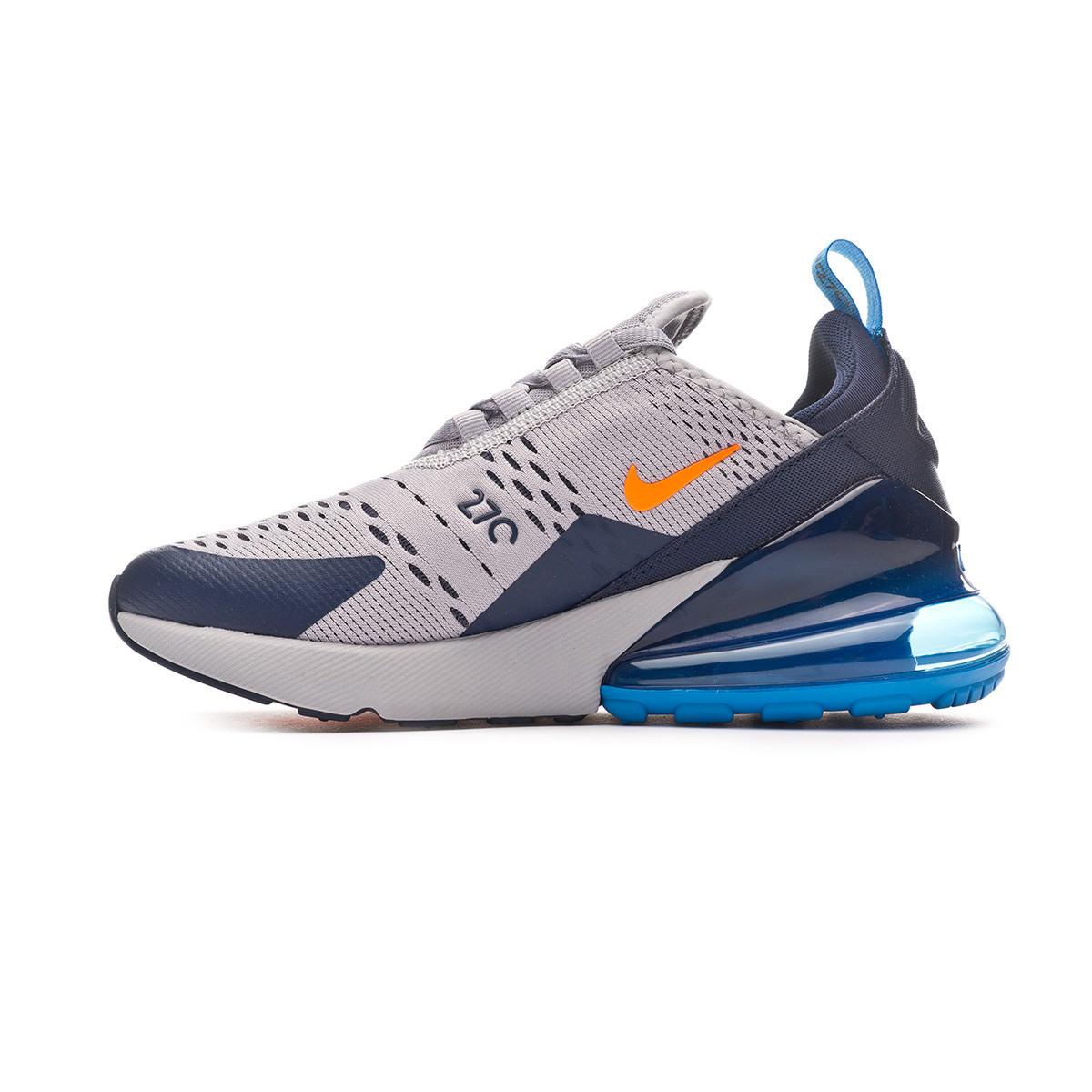 84cfa103c Trainers Nike Air Max 270 Niño Wolf grey-Total orange-Midnight navy -  Football store Fútbol Emotion