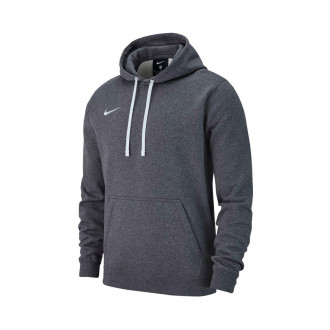 Sweatshirt  Nike Club 19 Hoodie Charcoal heather-Anthracite-White