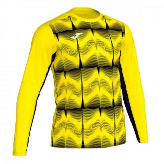 Camisola  Joma Derby IV m/l Amarillo flúor-Preto