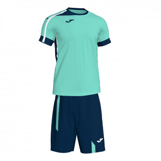 Conjunto  Joma Roma II Verde-Azul Marinho-Branco