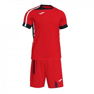 Kit  Joma Roma II Red-Black-White