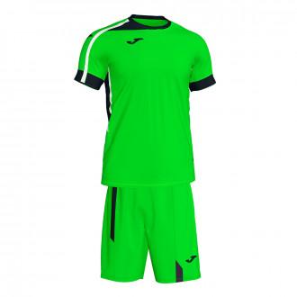 Kit  Joma Roma II Verde flúor-Black-White
