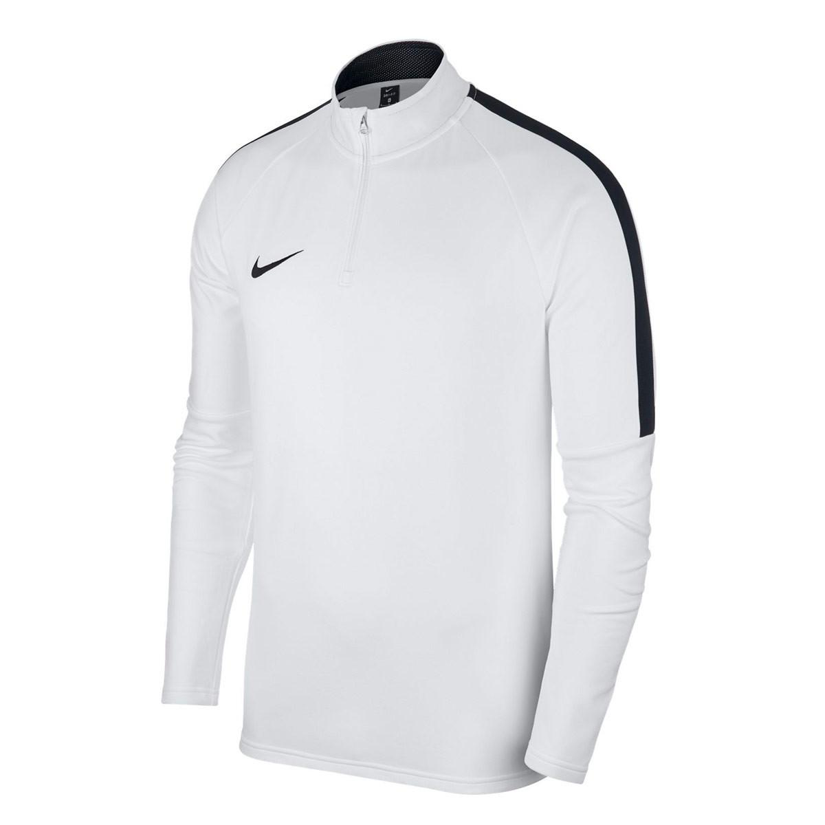 5eff4b66979b Sweatshirt Nike Kids Academy 18 Drill White-Black-Black - Tienda de fútbol  Fútbol Emotion