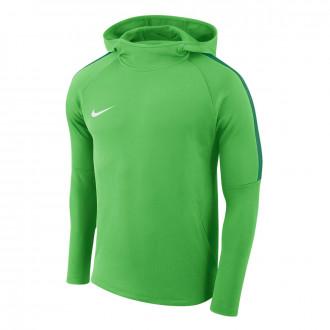 Sweatshirt  Nike Academy 18 Hoodie Crianças Light green-Pine green-White