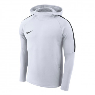Sweatshirt  Nike Academy 18 Hoodie Crianças White-Black-Black