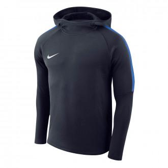 Sweatshirt  Nike Academy 18 Hoodie Crianças Obsidian-Royal blue-White