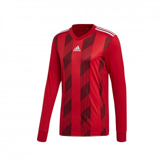 Maillot  adidas Striped 19 m/l Power red-White