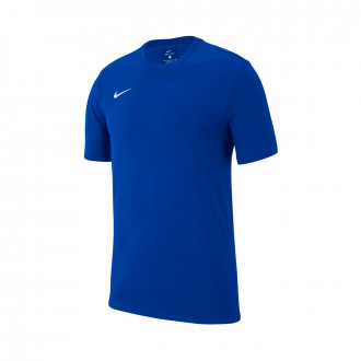 Maglia  Nike Club 19 m/c Niño Royal blue-White